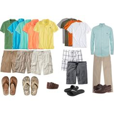 """""""Cruise Casual: Men's Edition"""" Excursion, swim, and formal night options for a 20-something guy aboard Carnival Cruise Lines. This would be ideal for a 6 - 8 night cruise."""