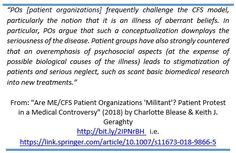 """""""Are ME/CFS Patient Organizations 'Militant'?"""" by @crblease & @keithgeraghty https://link.springer.com/article/10.1007%2Fs11673-018-9866-5 … #MEcfs #CFS #MyalgicE #MyalgicEncephalomyelitis #ChronicFatigueSyndrome"""