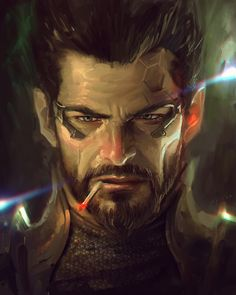 Adam Jensen, Eliant Elias on ArtStation at https://www.artstation.com/artwork/a1GNR