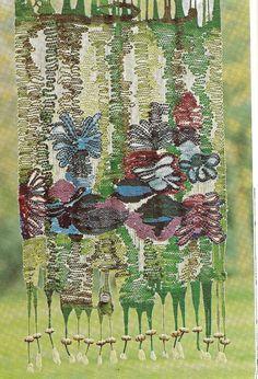 Tapestry weaving.