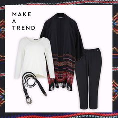 Cozy, chic and comfortable!  Trend alert by Mat. fashion  Real Size  Plus Size Fashion