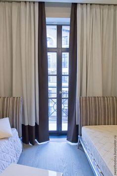Купить Текстиль в детской. Шторы с кантом. - разноцветный, шторы, шторы для спальни, шторы на заказ
