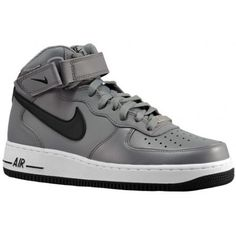 sneakers for cheap edca1 e116f Nike Air Force 1 Mid - Mens - Basketball - Shoes - Cool  GreyBlackWhite-sku15123026