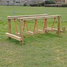 This Clatter Bridge is a simple and fun playground equipment that is great for parks