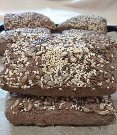Gluténmentes lenmaglisztes magvas rudak Bread, Desserts, Food, Tailgate Desserts, Deserts, Brot, Essen, Postres, Baking