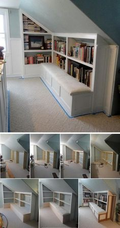 Create a Reading Nook Build a Bookcase with a Bench.