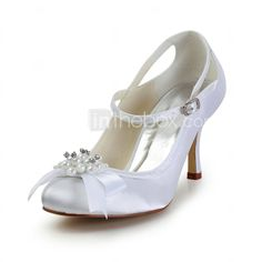 Women's Wedding Shoes Mary Jane Heels Wedding Black/Blue/Pink/Purple/Red/Ivory/White/Silver/Gold/Champagne 2015 – $57.19