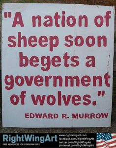 Edward R. Murrow-Wake up, and wake up your neighbors!!