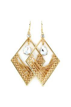Kelly Chandelier Earrings in Gold