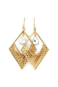 Kelly Chandelier Earrings in Gold