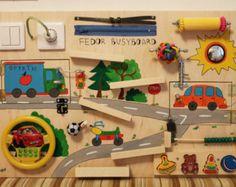 Occupé le Conseil « Cars », activité Conseil, Conseil sensoriel, Montessori jouet éducatif, jouet en bois, Fine planche de motricité pour les tout-petits et les bébés