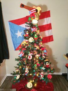 creative christmas trees xmas trees christmas home christmas ideas flag decor - Puerto Rico Christmas Tree Decorations