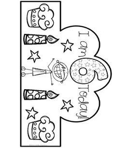 Ideas Happy Birthday Ideas For Girls Happy Birthday Crown, 30th Birthday For Him, Happy Birthday Messages, Girl Birthday, Crown Template, Heart Template, Flower Template, Class Birthdays, Classroom Birthday