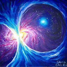 Galactic magnetic field, painting