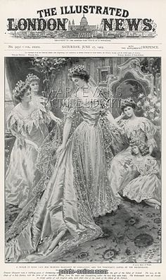 Princess Margaret of Connaught a vision in Irish lace from Prints-online: Beautiful posters, prints and merchandise with a historical theme., Royal Wedding Dresses, Royal Weddings Galleries c/o Media Storehouse: Wall Art, Prints and Photo Gifts Royal Brides, Royal Weddings, Vintage Weddings, Edwardian Fashion, Vintage Fashion, 1900s Fashion, Vintage Magazines, Wedding Magazines, Beautiful Posters
