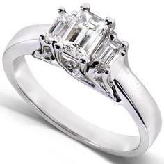 https://ariani-shop.com/diamond-three-stone-engagement-ring-3-4-carat-ctw-in-14k-white-gold Diamond Three-Stone Engagement Ring 3/4 carat (ctw) in 14K White Gold