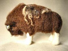 Lovely felted musk ox