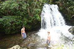 Waterval op Camping La Chauderie