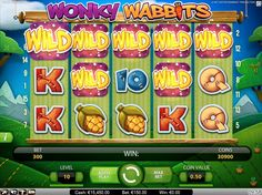 Wonky Wabbits Screenshot - A NetEnt Slot Game
