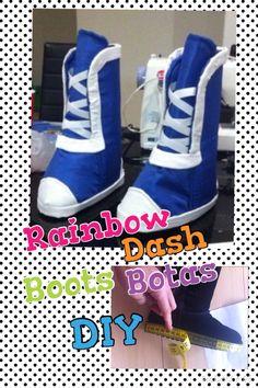 Rainbow Dash Equestria Girls, boots/botas DIY Tutorial part/parte 1