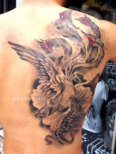 50 Beautiful Phoenix Tattoo Designs | Cuded