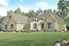 4 Bed Acadian with Side-Load Garage - 51729HZ | Acadian, European, French Country, Photo Gallery, 1st Floor Master Suite, Bonus Room, Butler Walk-in Pantry, Corner Lot | Architectural Designs