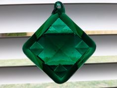 Kitras Glass Art  Vintage Emerald Green Sun by ChicAvantGarde, $15.00