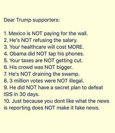 Exactly - except for the bit about healthcare since Trumpcare went down in flames.