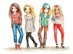 TopModel Friends :) by ~funandcake on deviantART