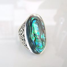 Abalone Ring.  I really want one like this!!!