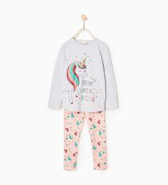 Imagen 1 de Pijama unicornio de Zara