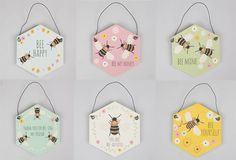 Hexagon Bee Honeycomb Hanging Home Decoration Gift Valentines Christmas