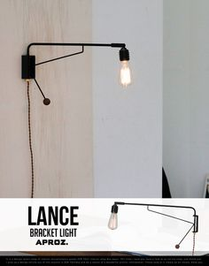【楽天市場】Bracket Light LANCE / ブラケットライト ランス APROZ / アプロス 壁掛け照明 アンティーク エジソン球 置型照明 ライト 間接照明 照明 ランプ AZB-105-BK:interiorzakka ZEN-YOU