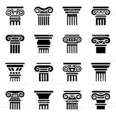 "Stock vektor ""Vector Column Icon Set On Grey"" (bez autorských poplatků) 335519747 Ancient Greece Fashion, Ancient Greece For Kids, Ancient Greek Art, Ancient History, European History, Egyptian Art, Ancient Aliens, Ancient Egypt, American History"