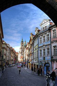 HDR View of the Mostecká Ulice, Prague, Czech Republic