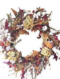 Front Door Wreaths Berries Leaves Fall Door Hangers Fall Wreaths for Front Door Autumn Wreaths Fall Floral Wreath