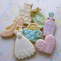 Wedding Themed Sugar Cookies - I want something like this for my favors...but maybe homemade cookies!