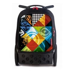 Nikidom Roller XL Logomania šolska torba na kolesih Mochila Trolley, Unisex, Back To School, Lunch Box, Stationery, Backpacks, Kids, Board, Big Wheel