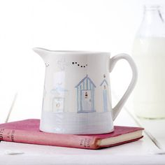 Dorset Coast Beach Hut Milk Jug
