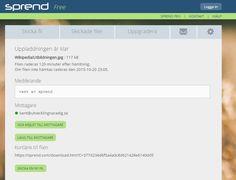 Fria #Sprend https://sprend.com/ Efter att man laddat upp en fil https://sprend.com/uploadfinished.htm?TransactionKey=7690406:d2a49003eaac9ca4502e9b7399c1b19c . Kortlänk som fungerar under120 minuter https://sprend.com/download.htm?C=377d234d6f5a4a0c8d621428e6140dd5 .