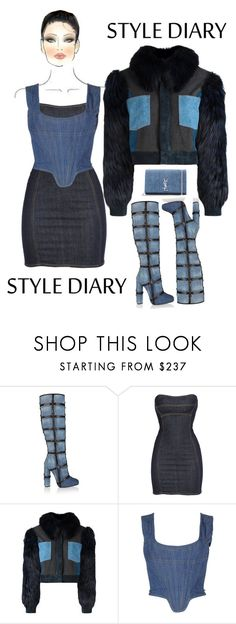 """""""Chambray & Champagne"""" by johnrefos ❤ liked on Polyvore featuring Tom Ford, Dsquared2, Sonia Rykiel, Vivienne Westwood, Yves Saint Laurent and M.A.C"""