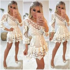 Chic Outfits, Pretty Outfits, Pretty Dresses, Spring Outfits, Casual Dresses, Fashion Dresses, Prom Dresses, Summer Dresses, Blouse Styles