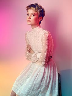 Portrait of Mia Wasikowska using coloured gels by Georges Antoni