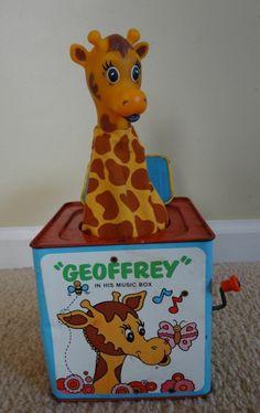 "Vintage Original Mattel Toys R Us Geoffrey in His Music Box ""jack in the box"""