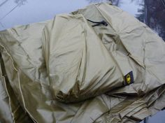 Cover: Bushcraft USA Silnylon Coyote Brown Tarp - 10'x10'