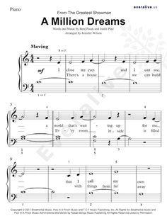 A Million Dreams Easy Piano Sheet Music Sheetmusic Thegreatestshowman Piano Music Amilliondreams Easy Piano Sheet Music Piano Sheet Clarinet Sheet Music