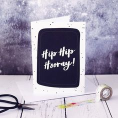 Your place to buy and sell all things handmade Hip Hip, Brush Pen, Celebrations, Birthday Cards, Envelope, Birthdays, Messages, Lettering, Unisex