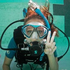 Scuba!!! I love the blue on her equipment!!