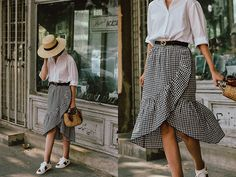 Andreea B. - The white shirt that goes with everything in your wardrobe Modest Fashion, Girl Fashion, Skirt And Sneakers, White Sneakers, Skirt Outfits Modest, Wardrobe Images, White Shirt Outfits, Summer Outfits, Casual Outfits