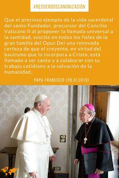 El Papa Francisco habla sobre san Josemaría Escrivá de Balaguer